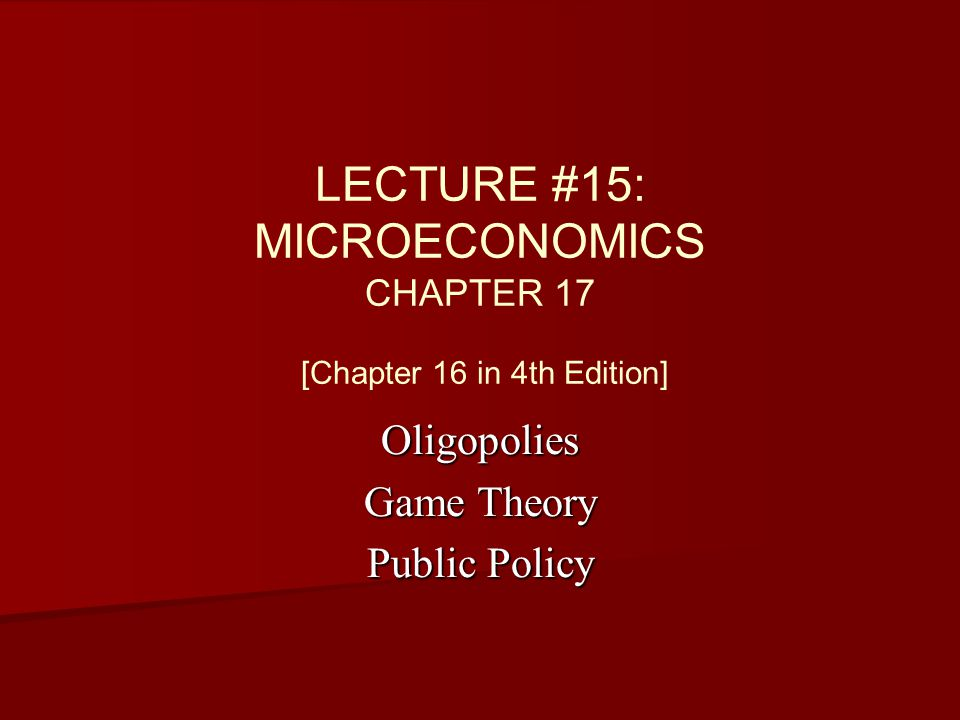 micro economic home work